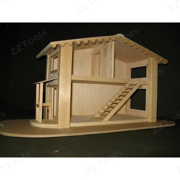 Игрушечный домик своими руками из фанеры
